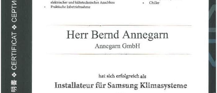 Samsung Zertifikat